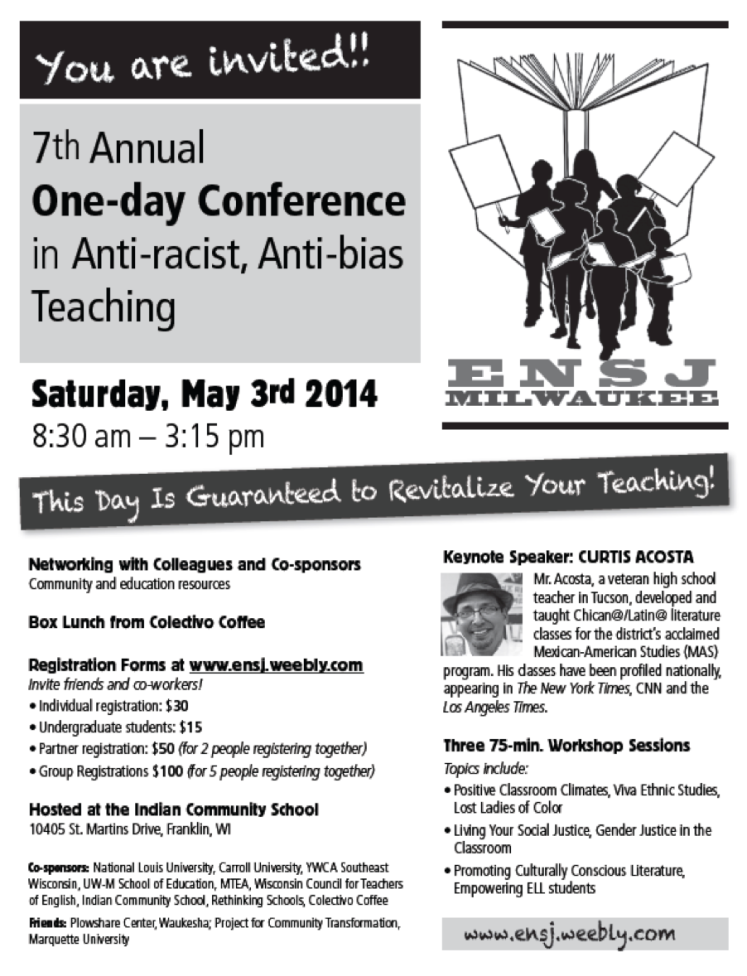 Upcoming Teaching for Social Justice Conference