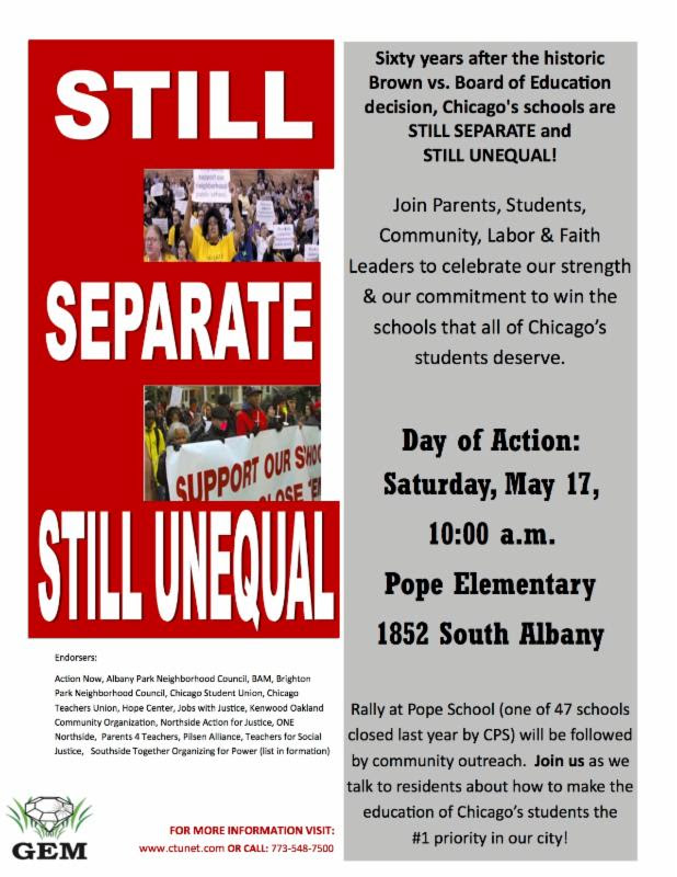 Rally for Public Education in Chicago